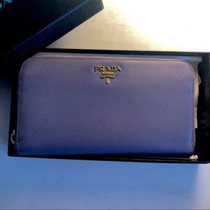 Authentic Prada Periwinkle Wallet/clutch